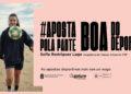 """A futbolista do Viaxes Amarelle, Sofía Rodríguez, imaxe da campaña """"Aposta pola parte boa do deporte"""", para concienciación sobre a adición ao xogo / CONCELLO DA CORUÑA"""