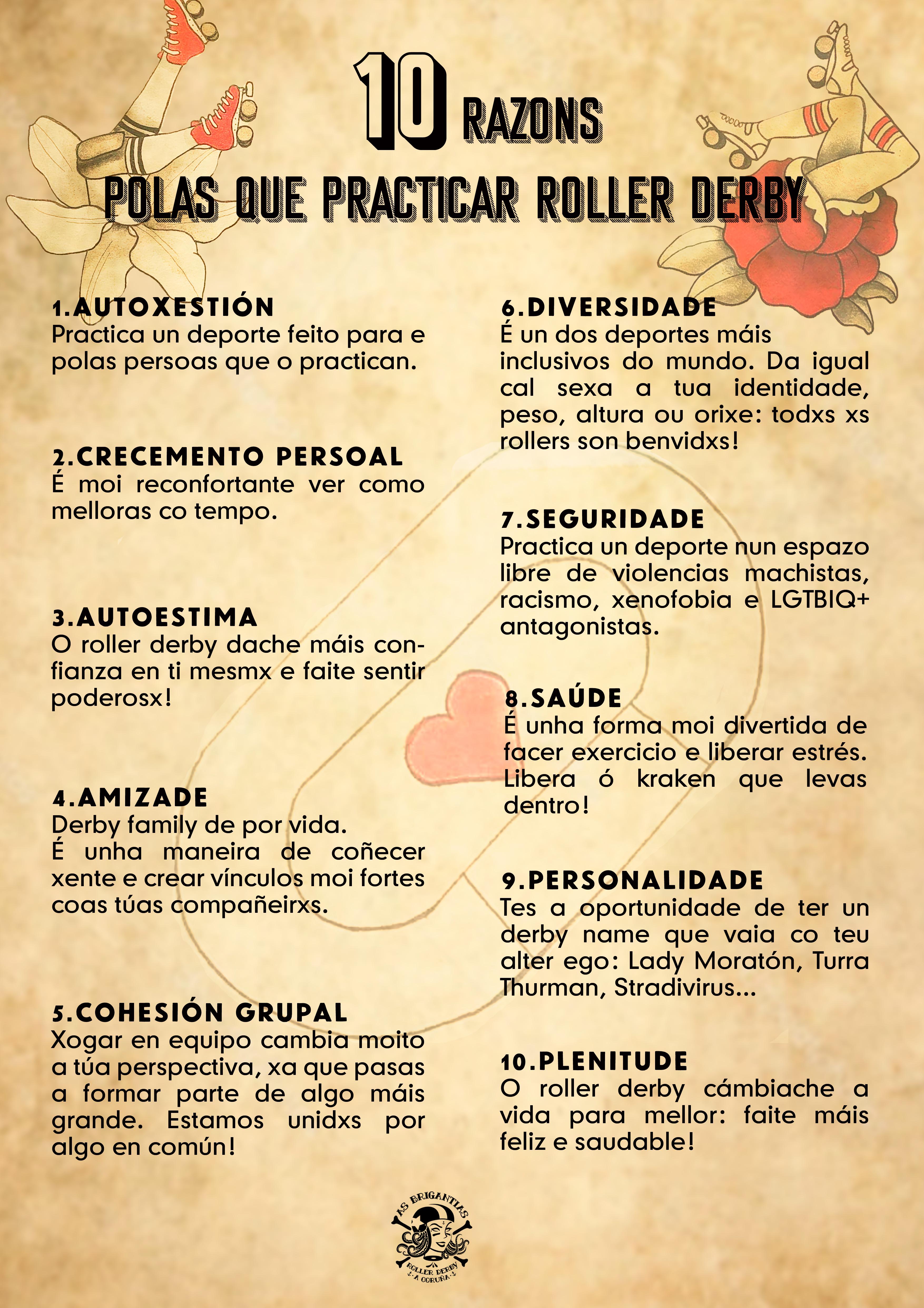 Os 10 beneficios do Roller Derby / AS BRIGANTIAS