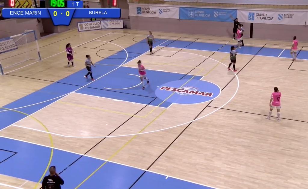 Ence Marín Futsal vs Pescados Rubén Burela, oitavos de final da Copa da Raíña / TWITCH.TV MARÍN FUTSAL