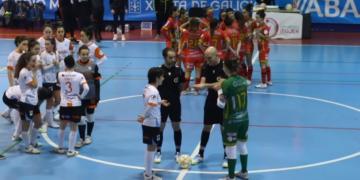 Copa da Raíña fútbol sala entre Poio Pescamar e Ourense Envialia