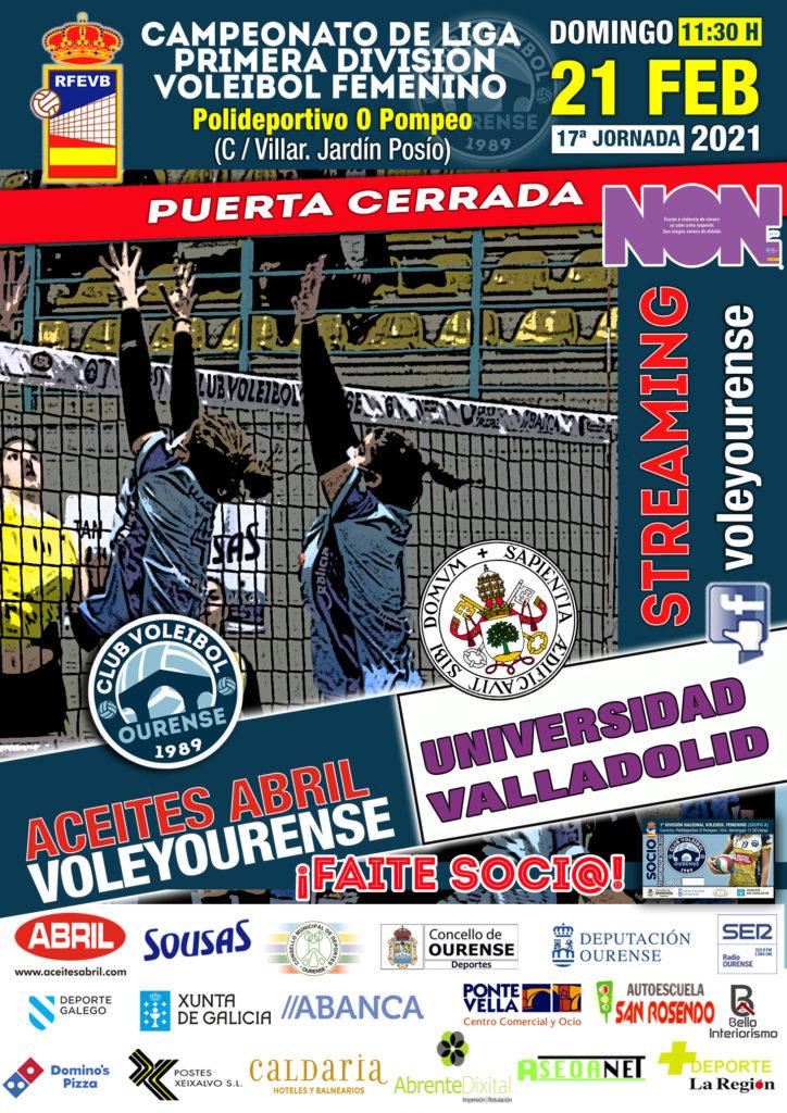 Aceites Abril Club Voleibol Ourense vs Universidad de Valladolid