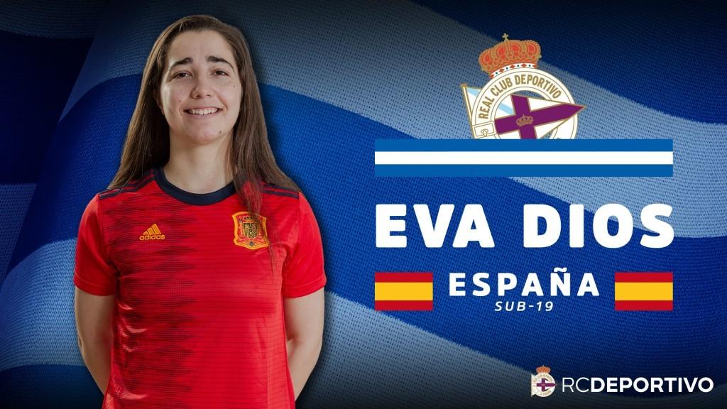 Eva Dios, galega do Dépor ABANCA, irá concoada coa Selección sub19 / RCD