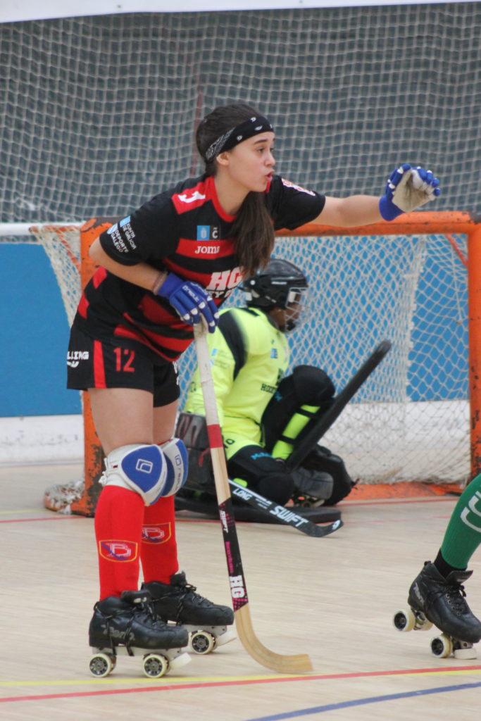 Lara Yáñez e Edén Avecilla, do HC Borbolla no partido contra o Cerdanyola / SABELA MOSCOSO