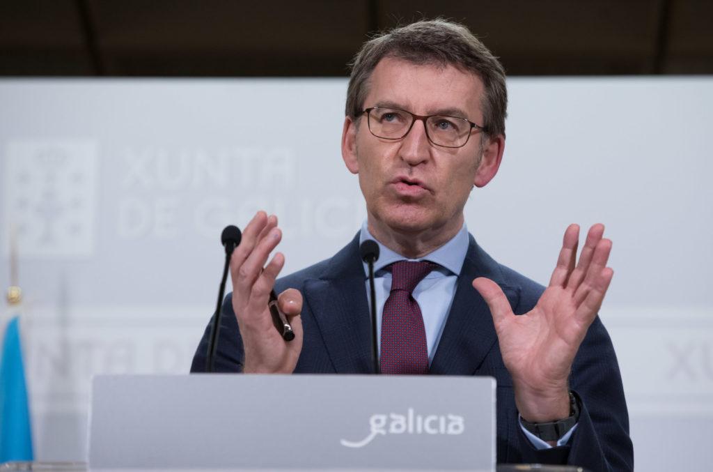 Alberto Núñez Feijóo na súa comparecencia tras falar co comité clínico / XUNTA DE GALICIA