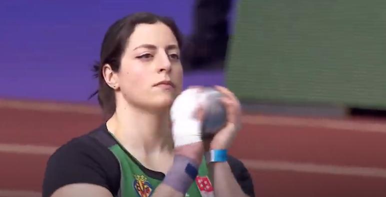 Belén Toimil, campioa de España de lanzamento de peso en pista cuberta 2021 / RFEA