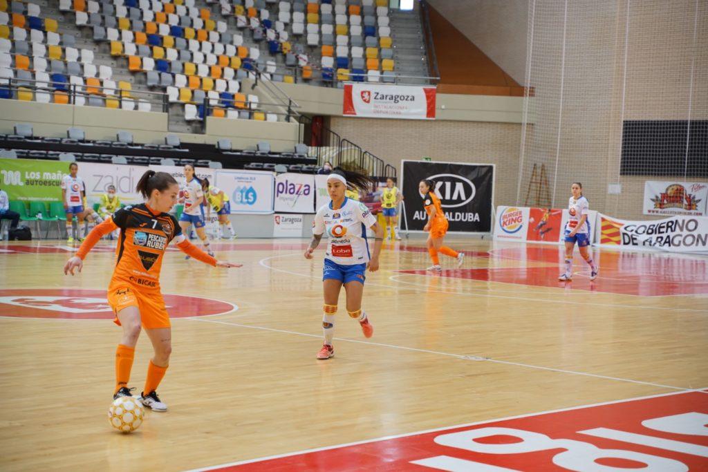 A xogadora do Burela Peque, no partido contra o Sala Zaragoza / ISO100
