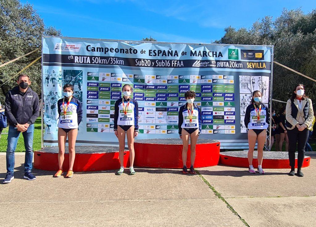 Selección galega, subcampioa nos 5km por federacións autonómicas / RFEA