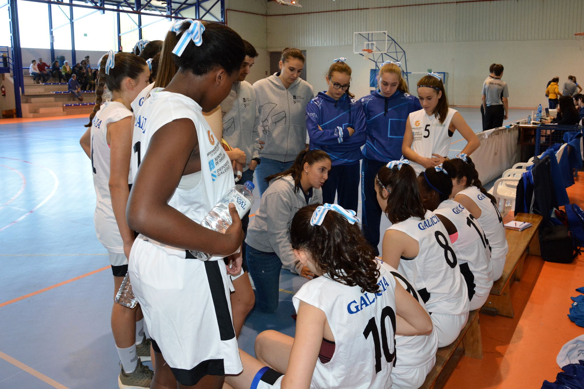 A adestradora Nacary Rojas coa Selección Galega / CEDIDA