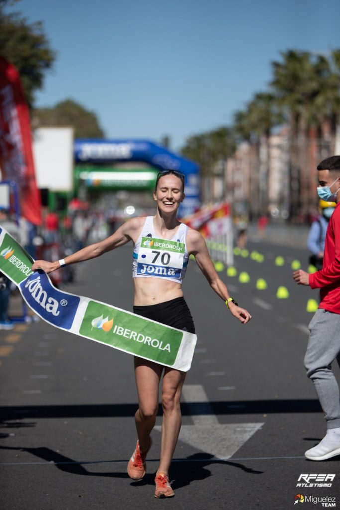 Antía Chamosa, campioa sub23 de marcha / RFEA