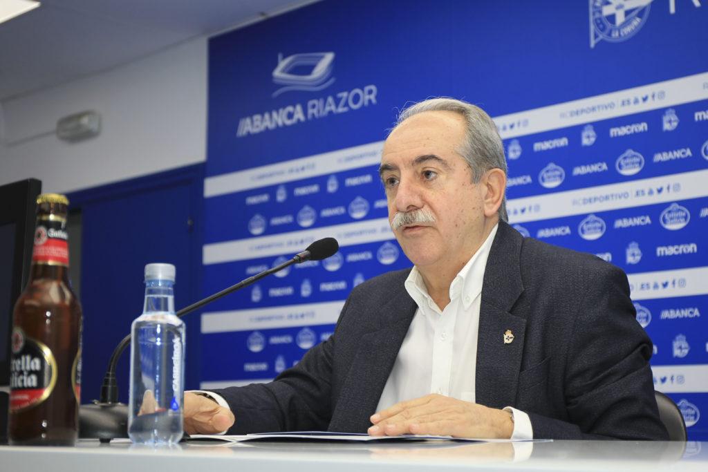 Antonio Couceiro, presidente do RC Deportivo / RCD