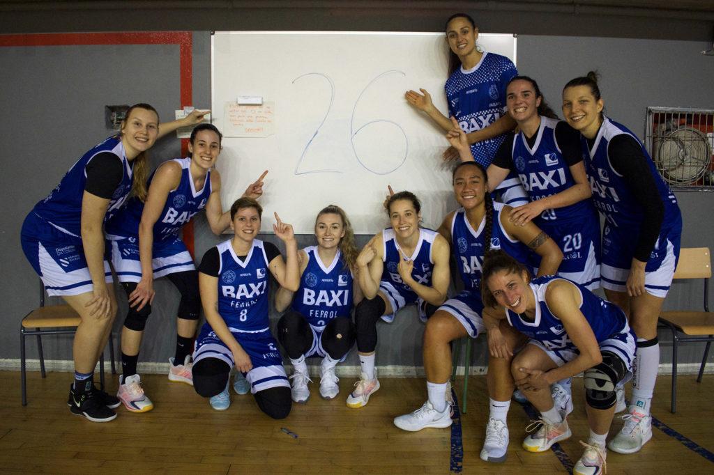O BAXI Ferrol acada 26 vitorias de 26 partidos posibles na primeira fase da LF2 / UNIVERSITARIO FERROL