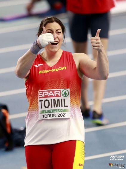 Belén Toimil no Campionato de Europa de pista cuberta de Torum / RFEA