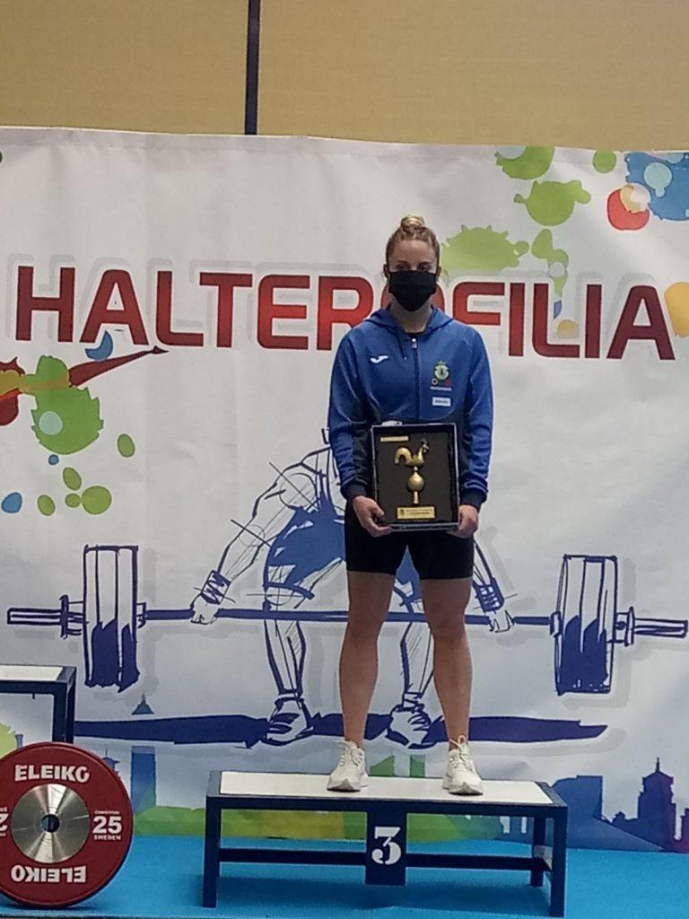 Irene Martínez, do Club Halterofilia Coruña, bronce na Copa de España / CH CORUÑA