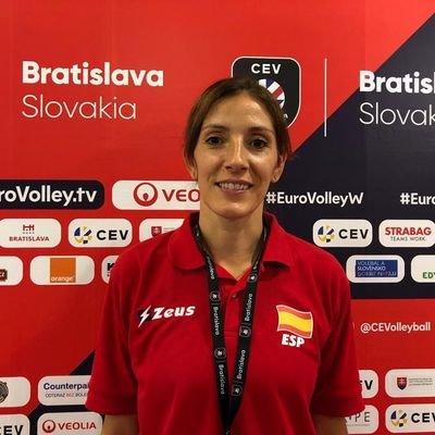 María José'Pepo' Garrido, fisioterapeuta do CV Emevé Lugo / Mª JOSÉ GARRIDO TW