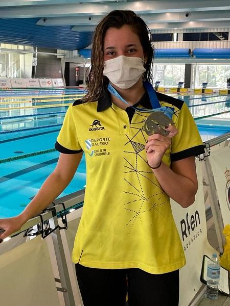 O ouro de María de Valdés nos 1500 m. libres do Campionato de España Absoluto / FEGAN