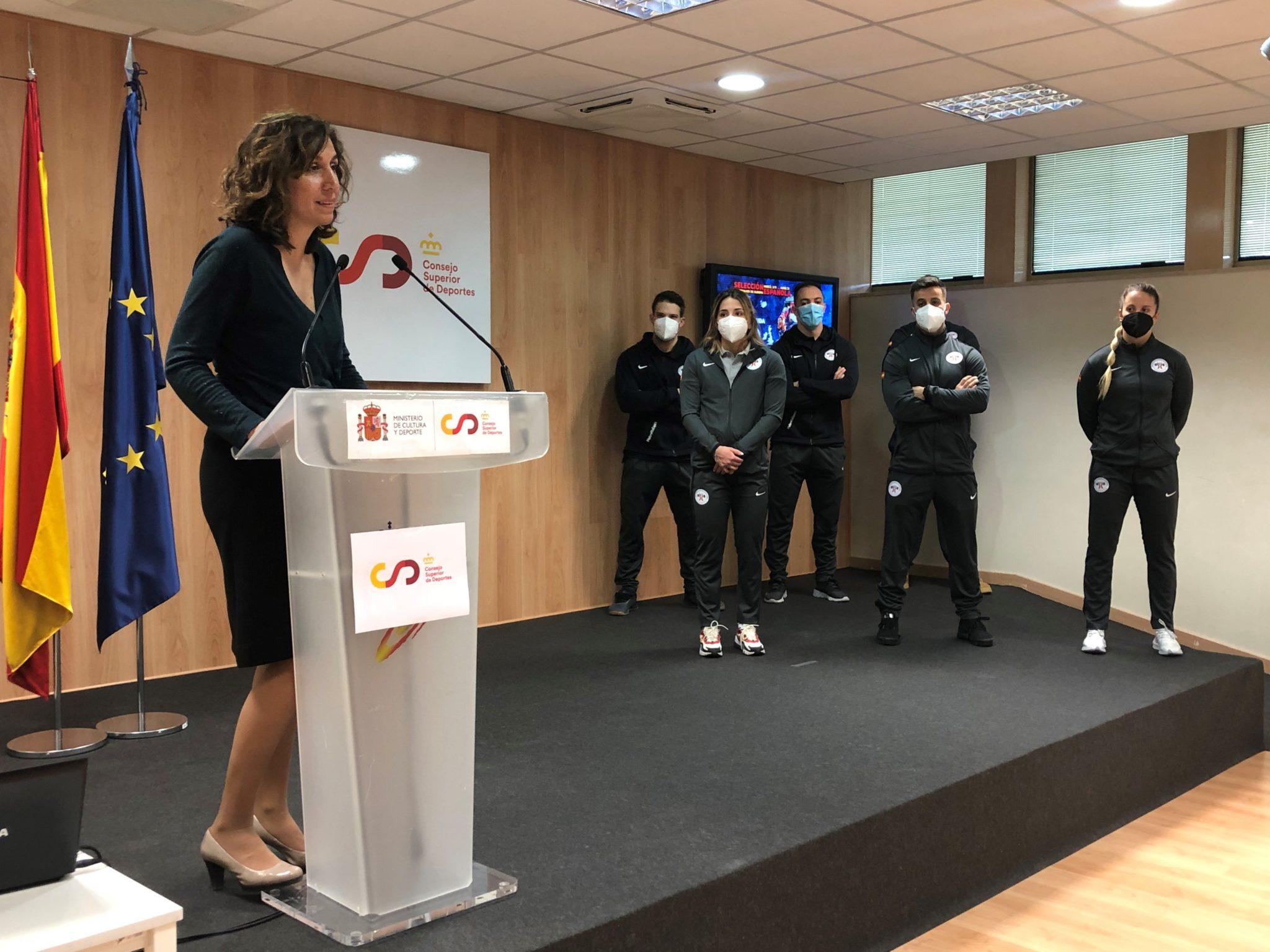 Presentación do equipo español para o Europeo de halterofilia no CSD con Irene Martínez / CSD
