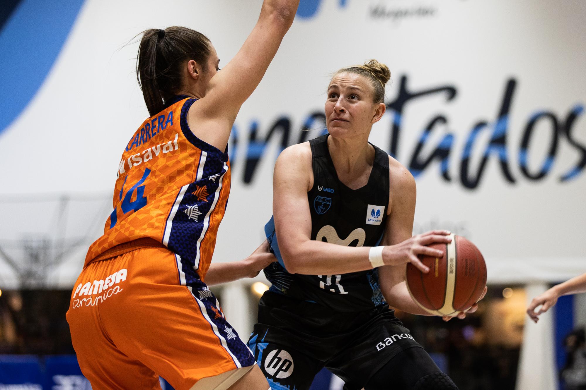 Raquel Carrera, galega xogadora do Valencia / FEB