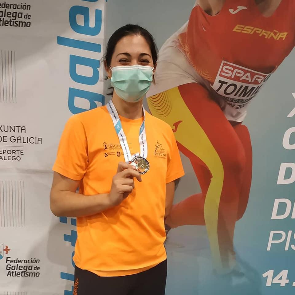 Teresa Rodríguez, do Riazor Coruña, logrou o ouro en valos e o bronce en 60m / RIAZOR CORUÑA FB
