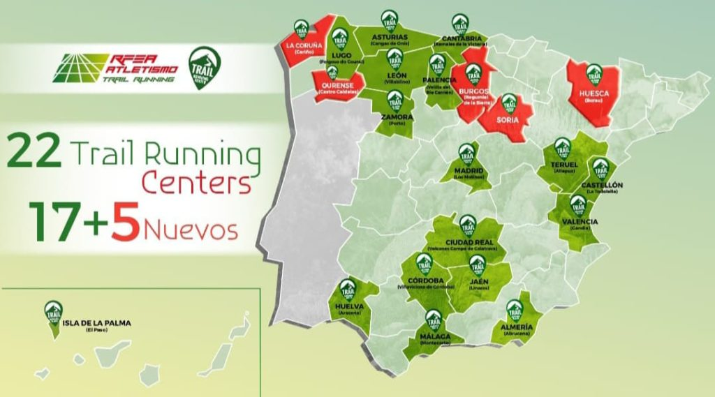 Trail Running Centers acreditados / RFEA