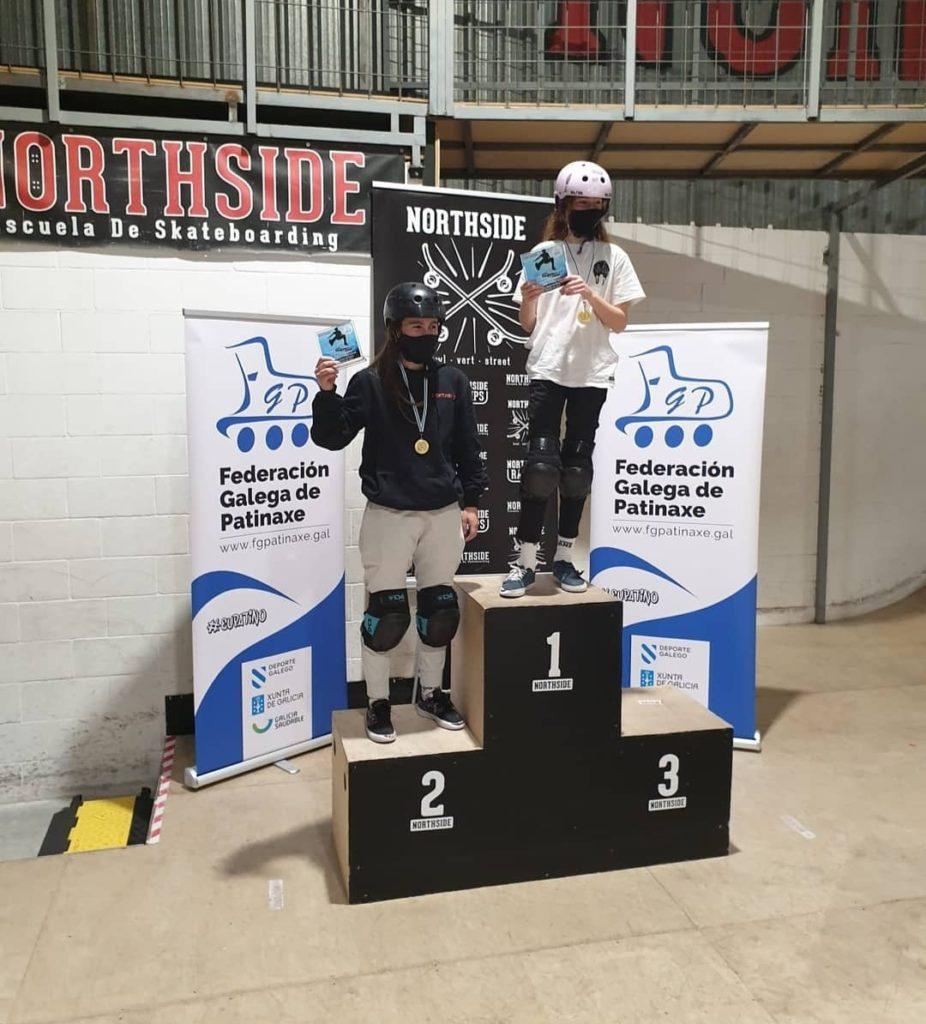 Circuíto Galego de Skate, podio Amateur feminino / FGP
