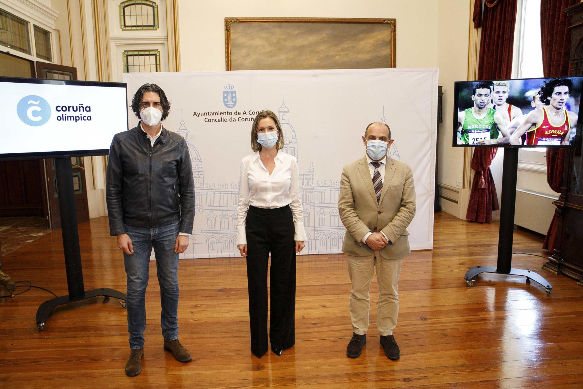 Presentación de Coruña olímpica, Mónica Martínez, Celemín, Andrés Díaz / CONCELLO A CORUÑA