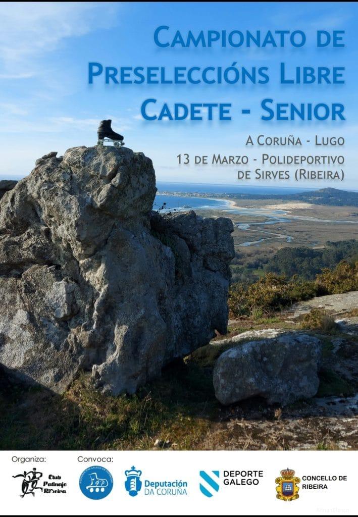 Campionato de Preseleccións Provinciais de Patinaxe Artístico Libre Cadete - Senior A Coruña Lugo / FGP