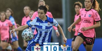 Gol de Alba Merino co Dépor ABANCA / RCD