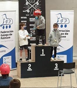Circuíto Galego de Skate, podio Iniciación Mixto / FGP