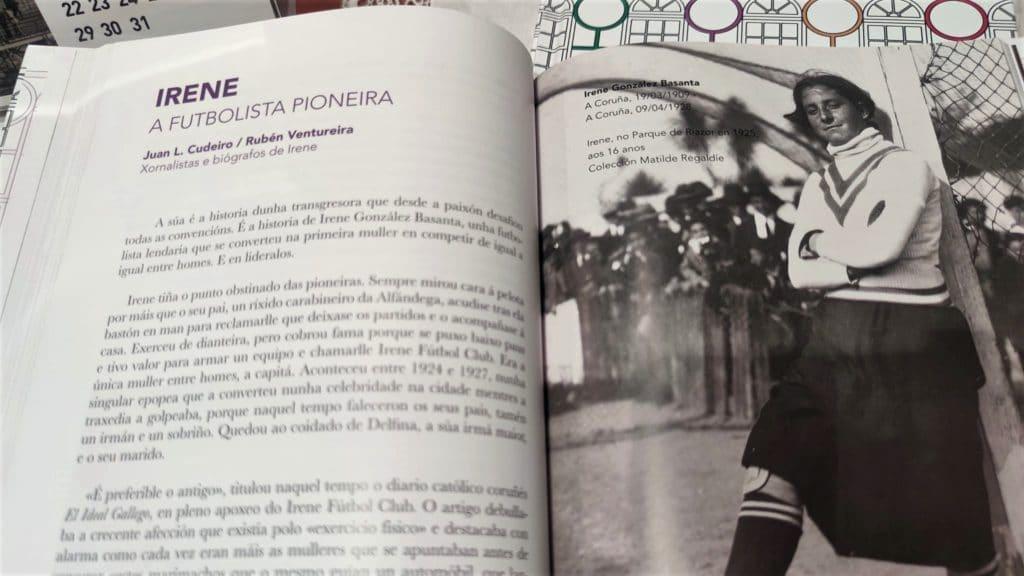 A porteira Irene González, unha das protagonistas do libro 'Cidade das Mulleres. Veciñas Ilustres da Coruña'