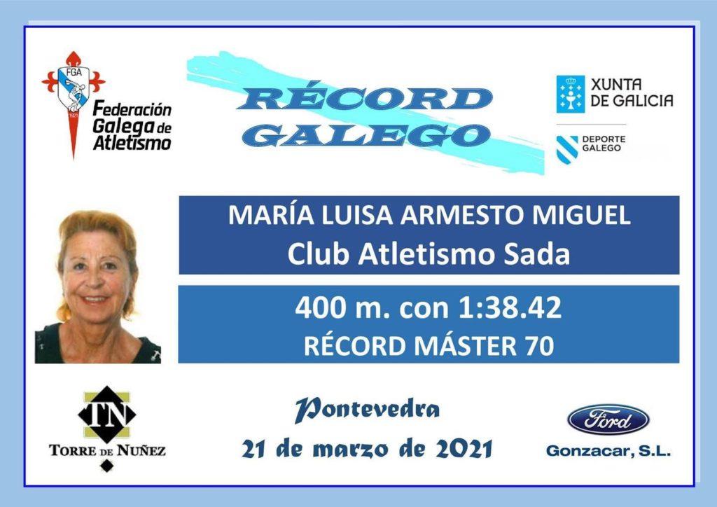 María Luisa Armesto do Club Atletismo Sada / FGA