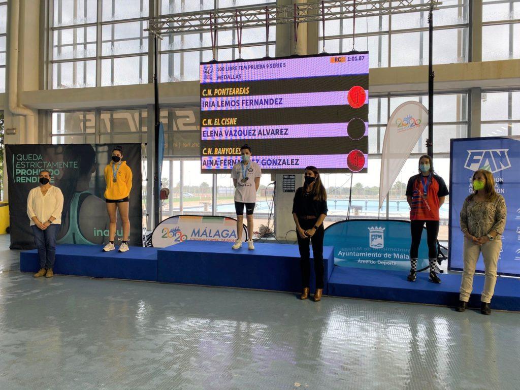 Ouro de Iria Lemos no Campionato de España infantil de inverno de natación / CN PONTEAREAS