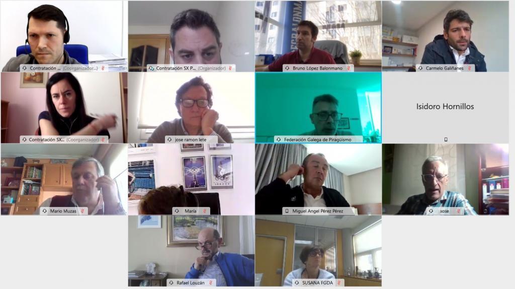 Reunión en liña do Foro de Reactivación do Deporte Galego / XUNTA DE GALICIA