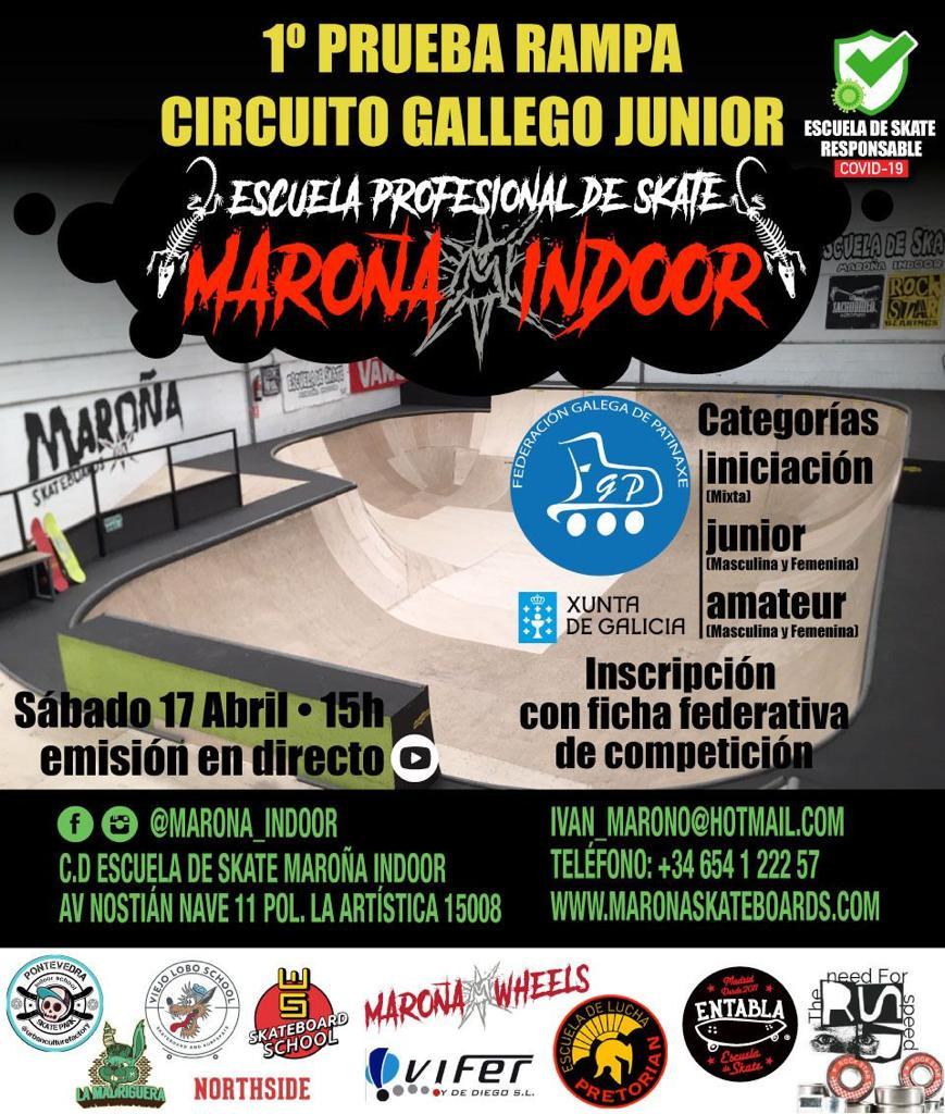 Circuíto Galego Junior de skate no Maroña Indoor / FG PATINAXE