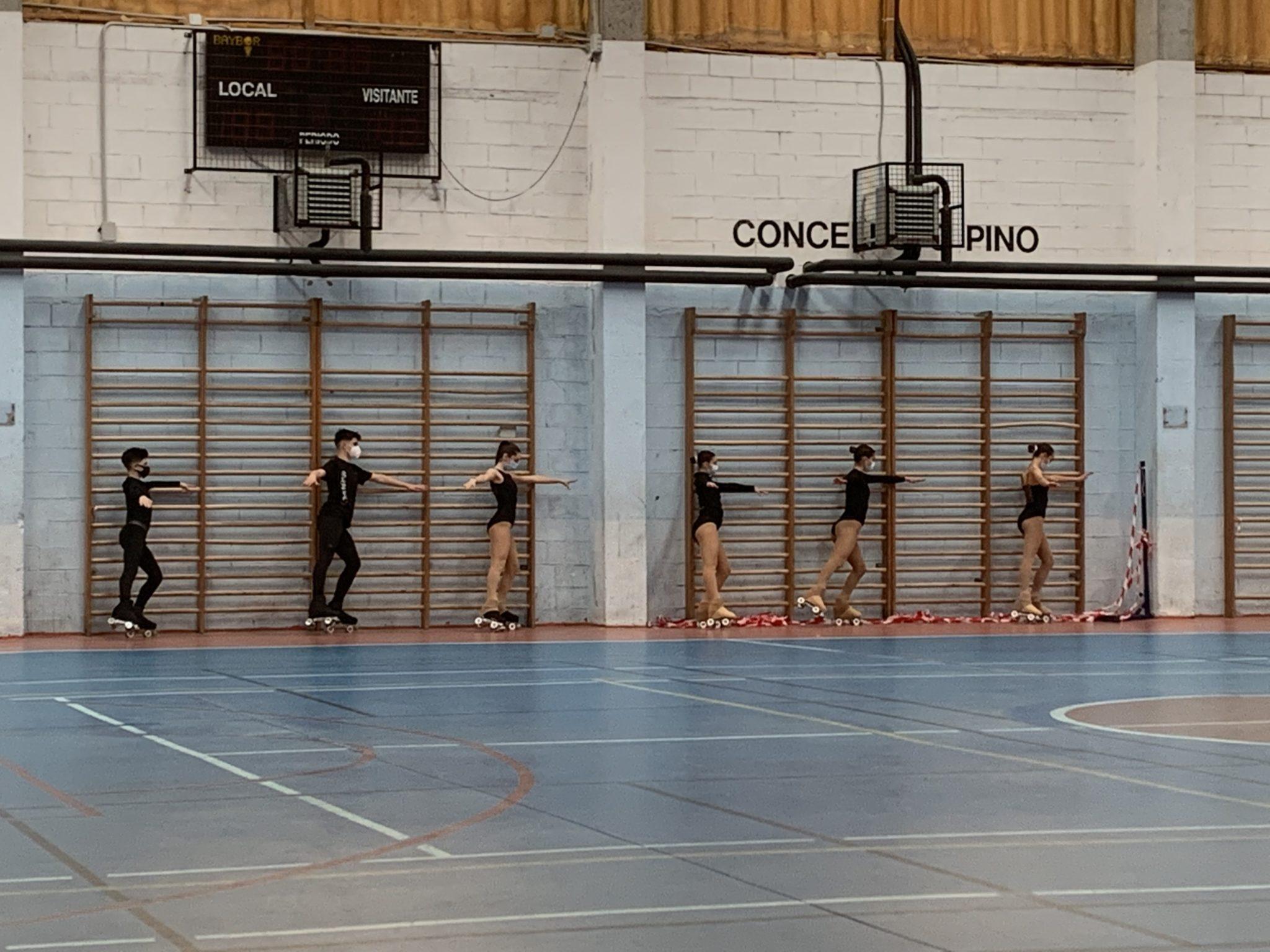 A patinaxe galega adestra co técnico internacional de World Skate Óscar Molis / FEDERACIÓN GALEGA DE PATINAXE