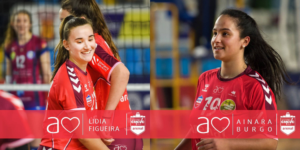 Lidia Figueira e Ainara Burgo seguirán defendendo as cores do club lucense / EMEVÉ