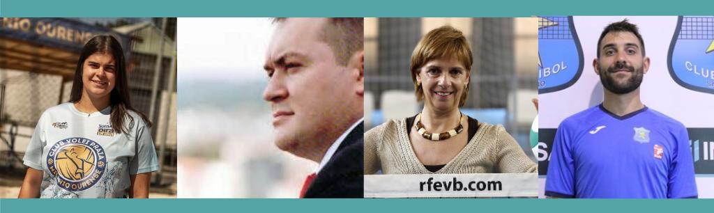 As catro persoas de clubs galegos nomeadas na nova Xunta Directiva da RFEVB / FEDERACIÓN GALEGA DE VOLEIBOL