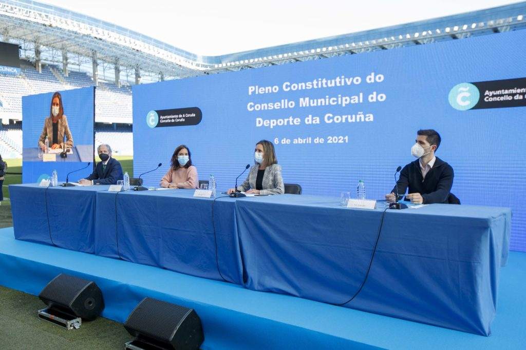 Constitución do Consello Municipal do Deporte en Riazor / CONCELLO DA CORUÑA