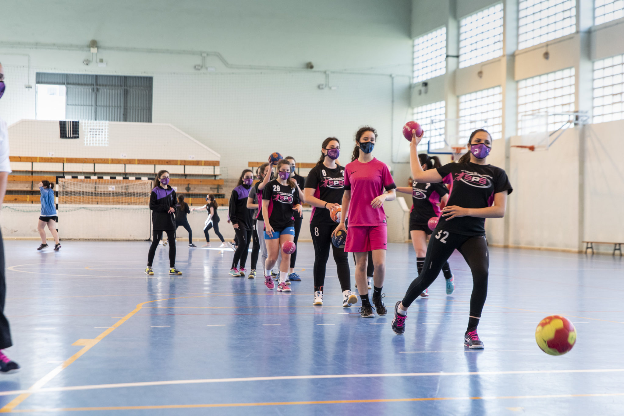 Adestramento do Balonmano Brigantium / ÍÑIGO ROLÁN