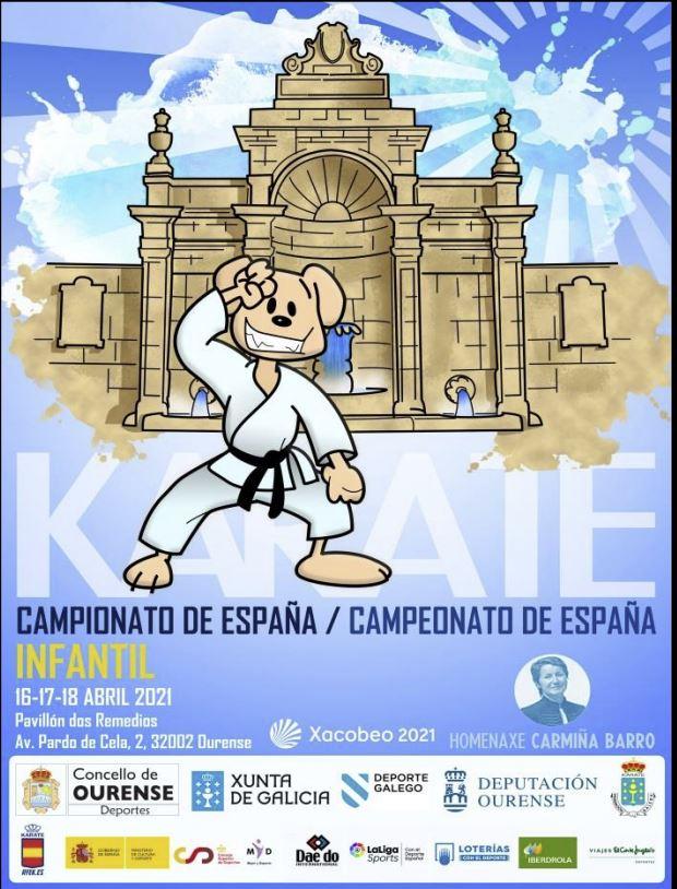 Cartaz do Campionato de España Infantil de Karate en Ourense