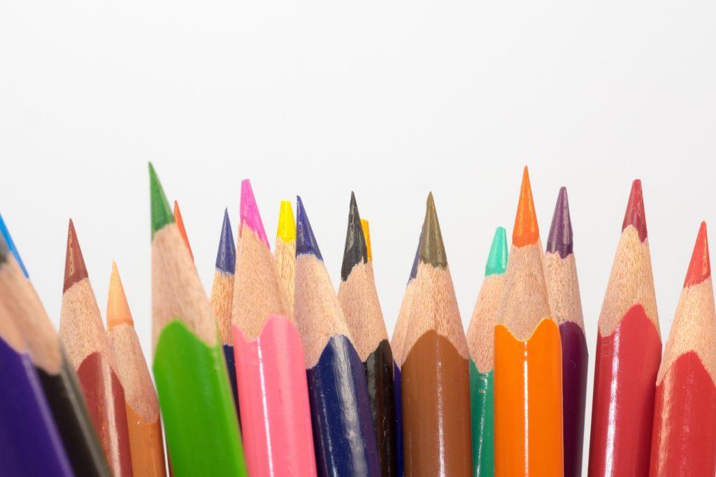 Lápices de cores para debuxo