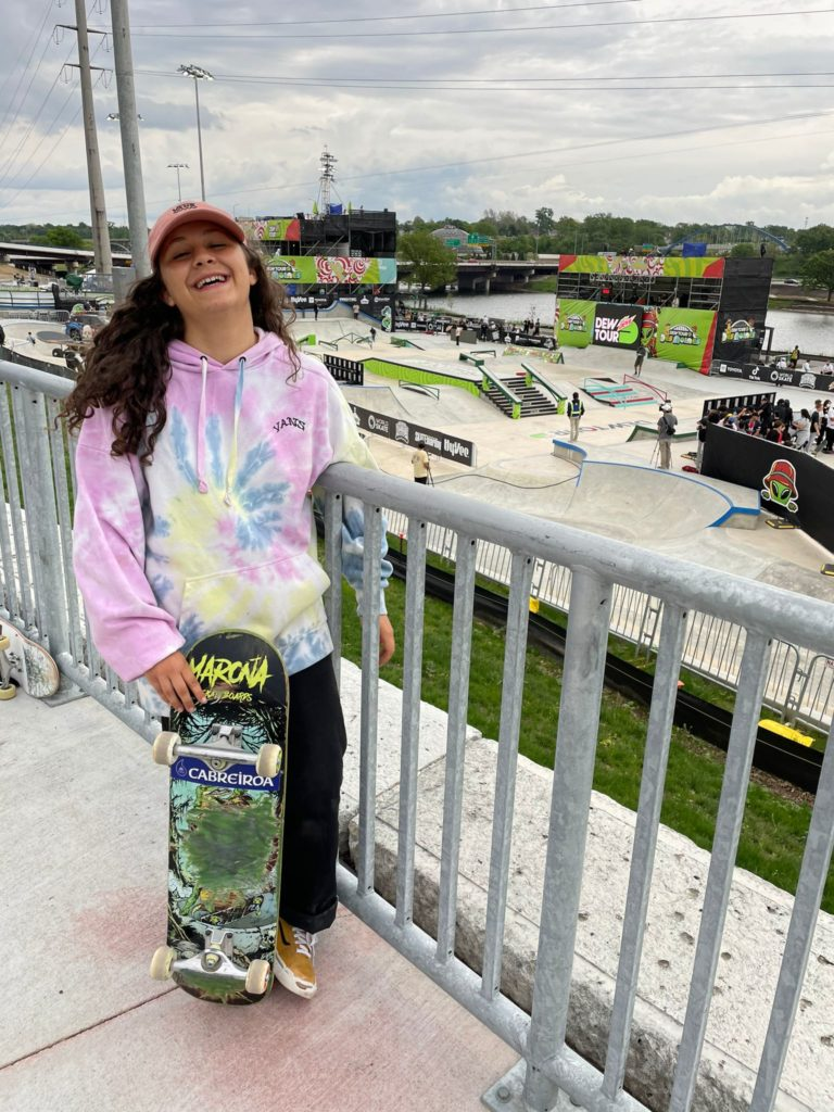 A skater Julia Benedetti no Dew Tour de Iowa / CORUNA DEPORTES TW