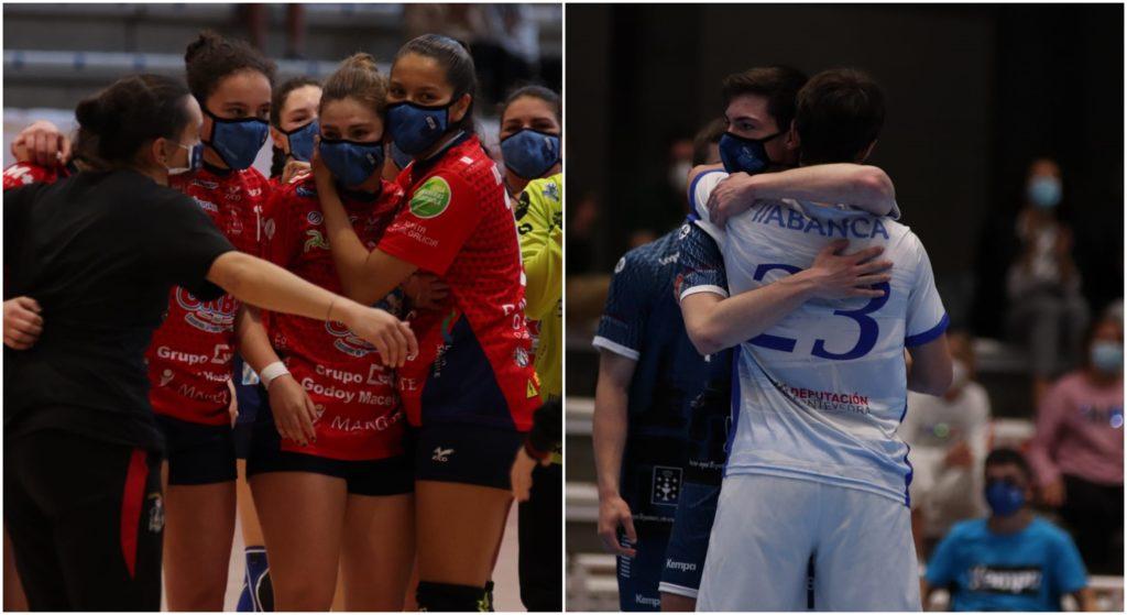 O BM Porriño logrou o título na categoría feminina, mentres que o Cisne Colegio Los Sauces é o campión na categoría masculina / FGBM