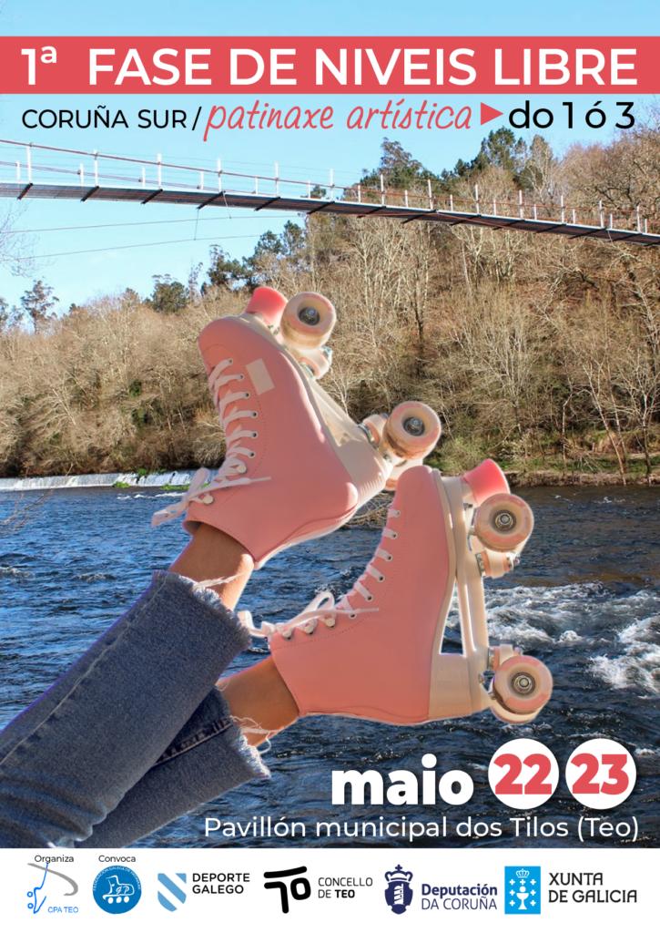 Fase de niveis 1 a 3 da Coruña Sur en Teo de patinaxe artística