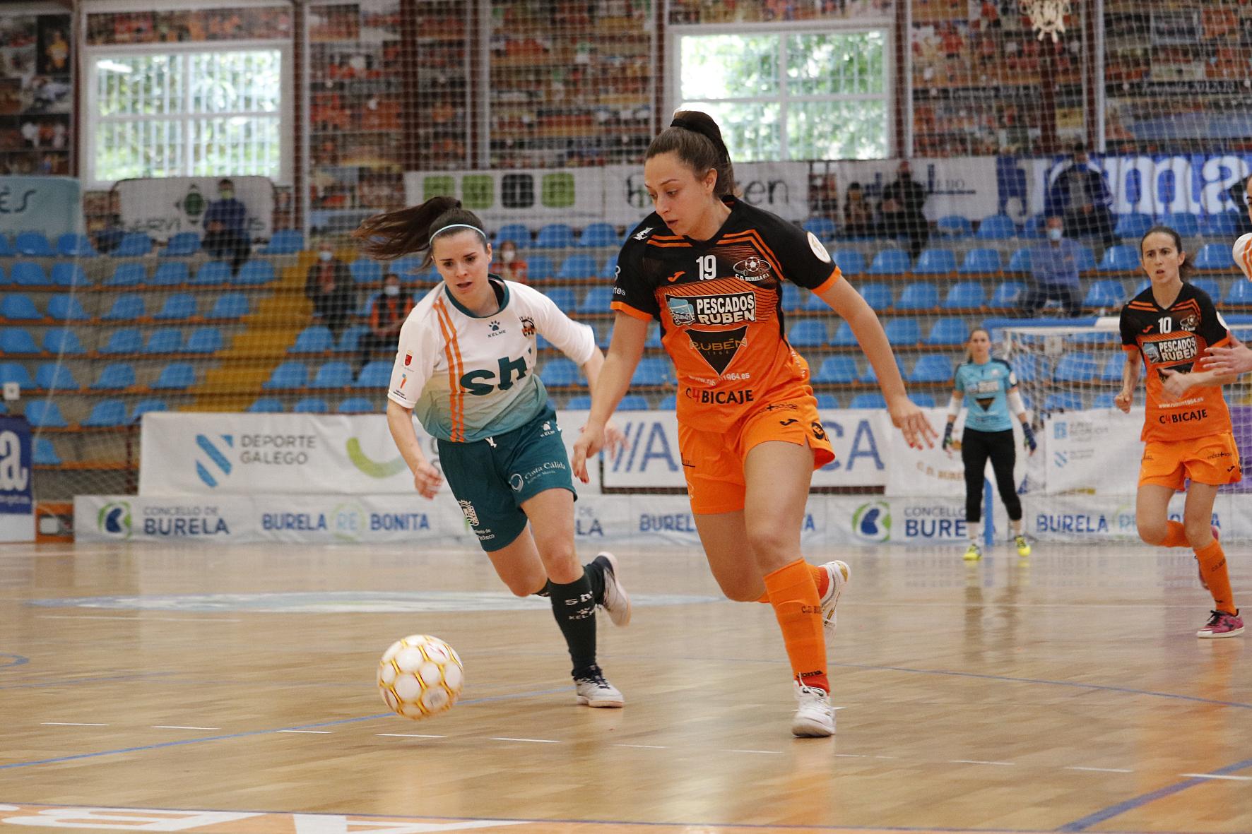 Elena Aragón no Burela vs Roldán / PRBFS