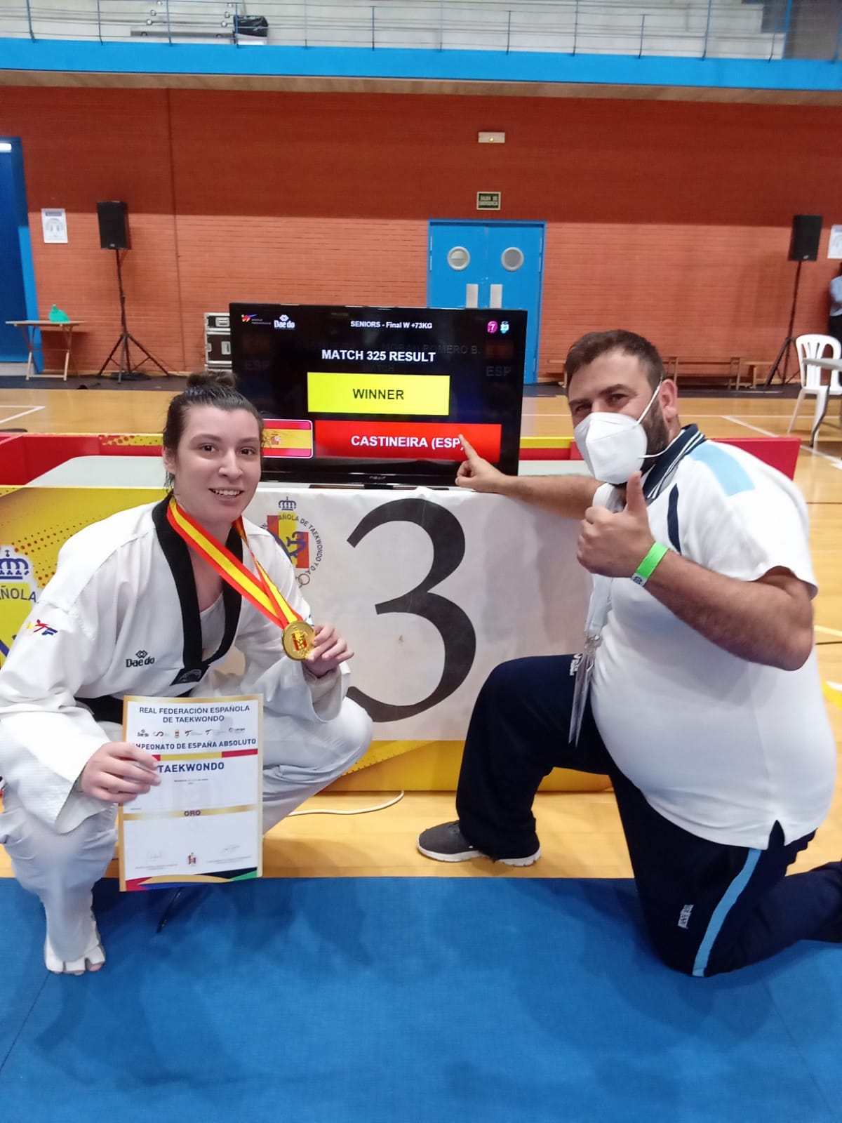 Equipo galego no Campionato de España de Combate feminino / FG Taekwondo