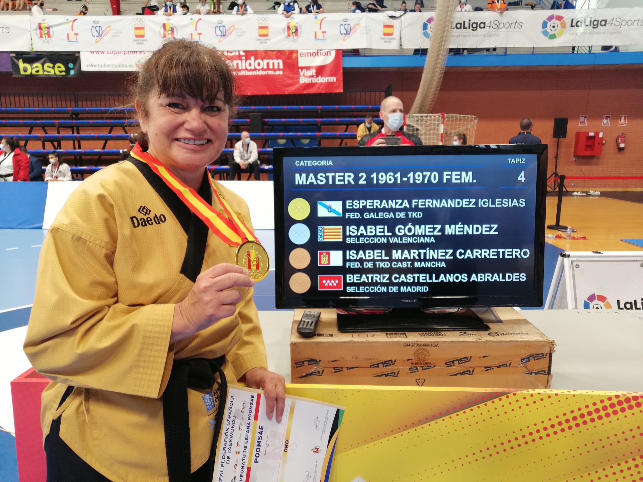 Esperanza Fernández, do equipo galego de taekwondo, ouro no máster do Campionato de España / FG TAEKWONDO