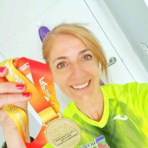 Esther Pedrosa, atleta máster, no nacional de Sabadell / FGA