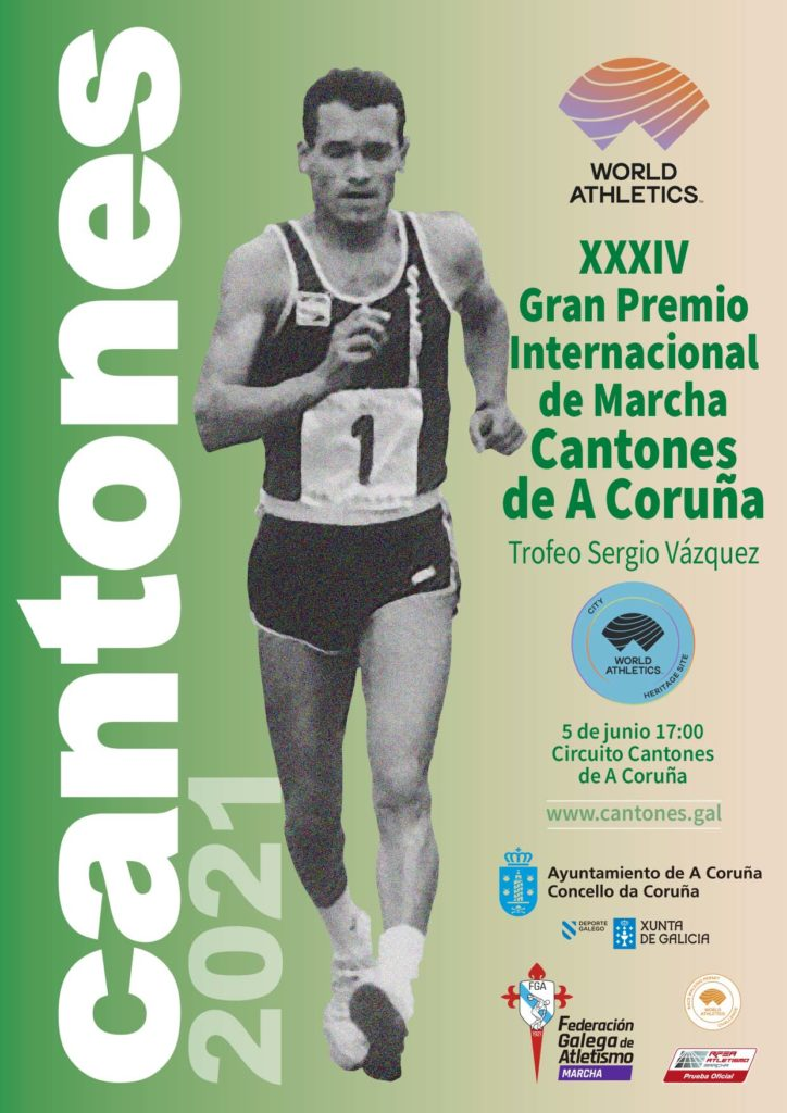 Jordi Llopart, protagonista do cartel oficial GP Cantones da Coruña / FGA