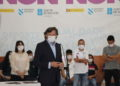 José Ramón Lete, na presentación do acordo de colaboración que permitirá desenvolver Reto Galicia-Toquio con Igualdade / SABELA MOSCOSO