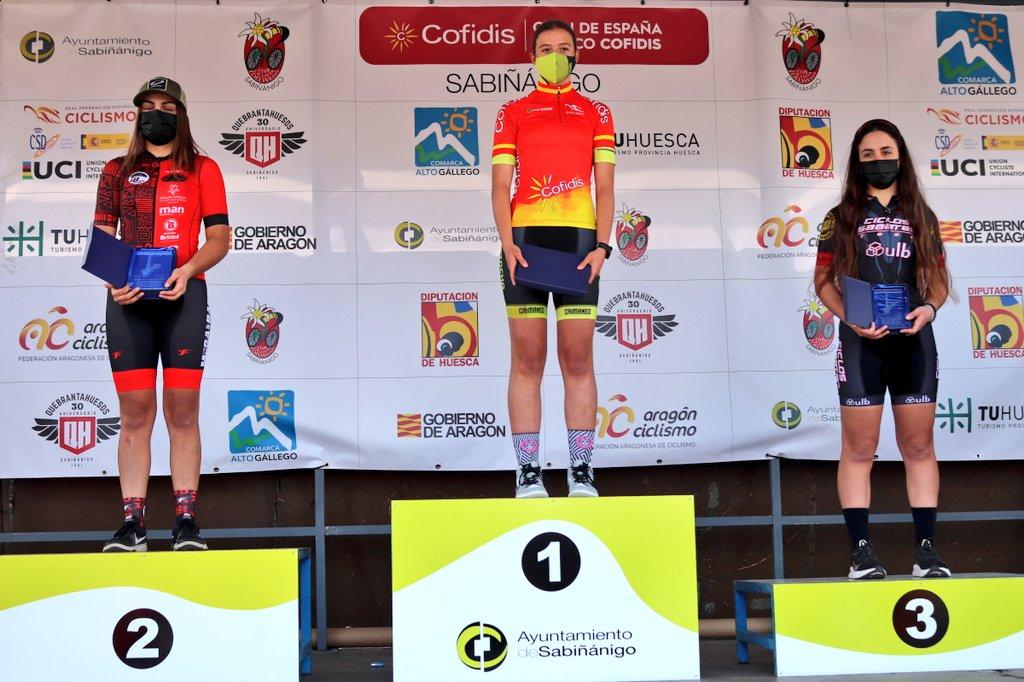 María Filgueiras, do Caimanes Betanzos, ouro en cadete no Open España XCO Cofidis 2021 / RFEC
